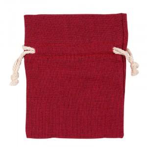 Bomullspåse present/förvaring/Doft mm. Röd.