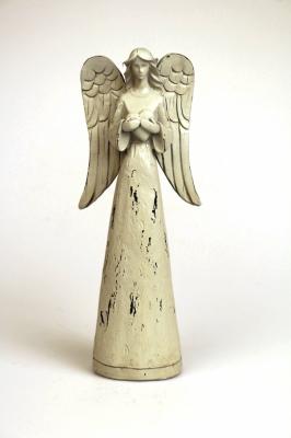 Stor Ängel med hjärta, antiklook