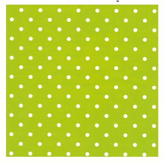 Grönt/vitprickigt papper med vitgröna band
