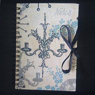 "Anteckningsbok ""Tissue Candle"" A6-format."