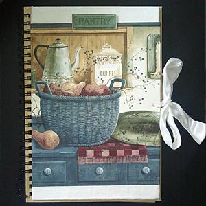 "Anteckningsbok ""My Kitchen"" Blå, A5-format."