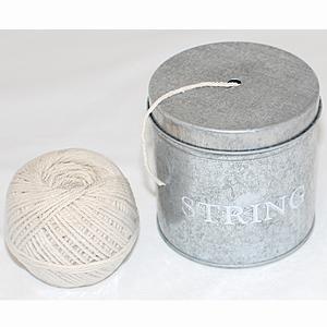"Zinkburk""""string"", medföljande natursnöre"
