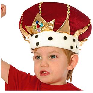 Krona, kung - Röd Sammet