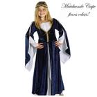 Klänning Kate - Mörkblå sammet, vit silkig insida