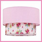 Lampskärm, tak, rosa - Välj med eller utan sladd!