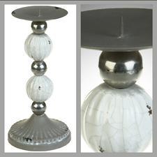 Ljustake för blockljus, metall, 24 cm hög.