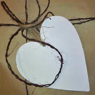 Hjärta utan text, presentlapp