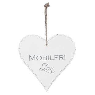 Hjärta - Mobilfri zon, 15 cm
