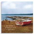 """Kort """"Låt saknaden bo på kärlekens strand, vi finns med er"""""""