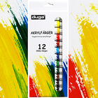 Akrylfärger, 12-pack