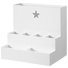 Skrivbordsförvaring, star vit