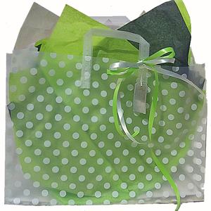 Färdig Presentpåse med band, tag, silkespapper. Lime.