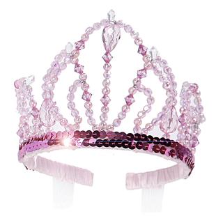 Tiara, prinsess, glittrig rosa