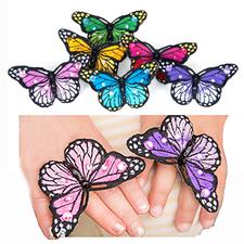 Stor textilring, fjäril - Välj färg!