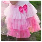 Kjol, rosa tyll, lager på lager
