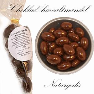Havssalt/Choklad-mandel i Presentstrut, naturgodis