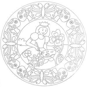 Målarbok Mandala, Prinsessor