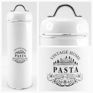 Plåtburk pasta, vintage home