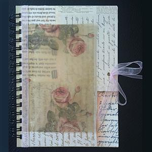 """Anteckningsbok """"Roses & Letters"""" A6-format."""