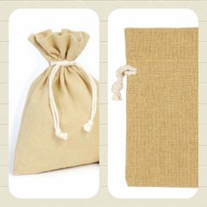 Bomullspåse present/förvaring/Doft mm. Natur.