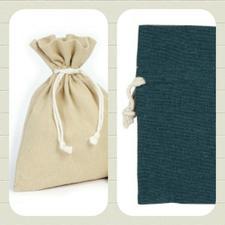 Bomullspåse present/förvaring/Doft mm. Grå.