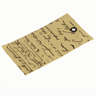 Etikett i handgjort strukturpapper m. fransk skrift