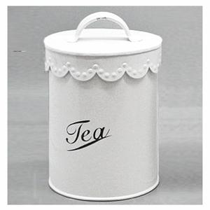 """Vit plåtburk """"Tea"""" - Hammenhög"""