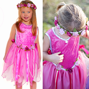 Tunic Forest Fairy. Dark Pink, 5-8 år