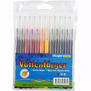 Färgpennor, vattebaserade, giftfria