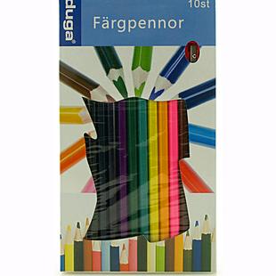 Färgpennor, jumbo med vässare