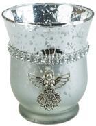 Ljuslykta i glas med ängel