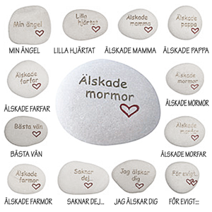 Sorg/saknad/tröst/kärlek stenar - Välj text!
