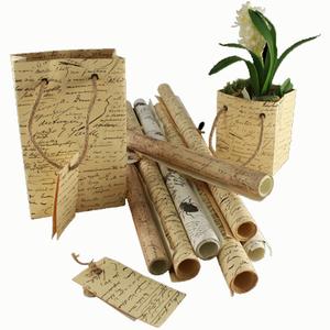 Presentpåse, Handgjort strukturpapper med etikett