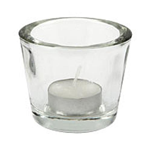 Glaslykta för värmeljus, klarglas