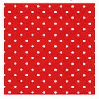Presentpapper Dots Röd, metervara