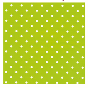 Presentpapper Dots Lime, metervara