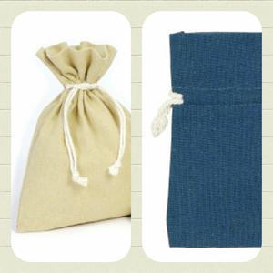 Bomullspåse present/förvaring/Doft mm. Denim.