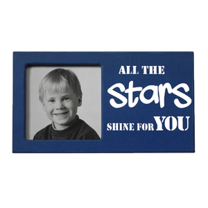 "Fotoram blå ""All the stars shine for you"""