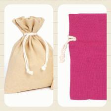 Bomullspåse present/förvaring/Doft mm. Rosa