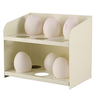 Ägghållare i plåt, creme,  från Strömshaga